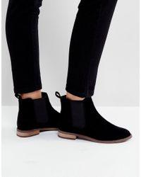 Miss Kg Black Flat Chelsea Boots