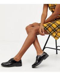 Miss Selfridge Black Patent Brogues