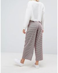 ASOS - Multicolor Tailored Coloured Houndstooth Check Wrap Front D Ring Culotte - Lyst