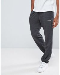 c2a42902 Lyst - Champion Logo Joggers in Gray for Men