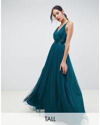 ASOS DESIGN Tall - Premium - Vestito lungo da cerimonia di ASOS in Green
