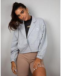 Chaqueta corta gris jaspeada exclusiva en ASOS PUMA de color Gray