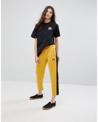 Ellesse Black Oversized Boyfriend Tee With Washed Out Logo