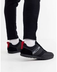 HUGO Black Matrix Low Top Mesh Texture Sneakers for men