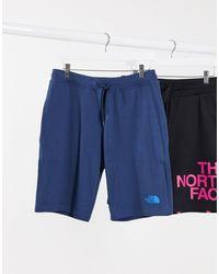 Pantaloncini blu con stampa grafica di The North Face in Blue da Uomo