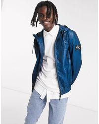 Двухцветная Синяя Куртка -синий Calvin Klein для него, цвет: Blue