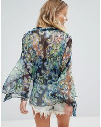 Free People - Blue Fleur De Lis Kimono - Lyst