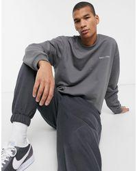 Серый Свитшот С Логотипом На Спине Essential Sixth June для него, цвет: Gray
