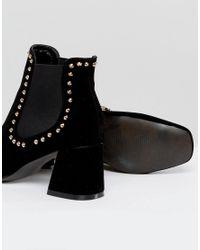 PRETTYLITTLETHING Black Studded Chelsea Boot