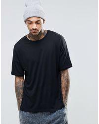 ASOS | Black Oversized T-shirt In Lightweight Fabric for Men | Lyst