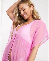 Длинная Туника -розовый Цвет South Beach, цвет: Pink