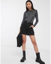 Pantalones cortos chinos en negro ASOS de color Black
