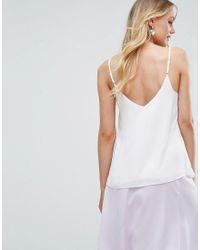 Camisola con vuelo y doble capa ASOS de color White