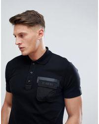 DIESEL Black T-temp Broken Logo Polo Shirt for men