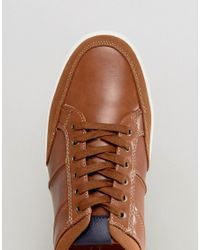 New Look Brown Lace Up Trainers In Tan for men