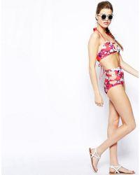 Mouille' Multicolor U-halter Bikini Top