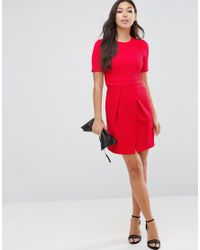 ASOS - Double Layer Textured Mini Wiggle Dress - Lyst