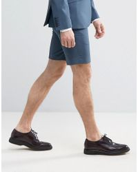 Heart & Dagger - Blue Smart Summer Wedding Shorts for Men - Lyst