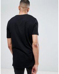 ASOS Black Tall Longline T-shirt With Dream Team Print for men
