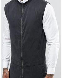 ASOS - Jumpsuit With Zip Front In Black for Men - Lyst