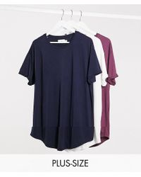 Topman Blue Big & Tall 3 Pack T-shirts for men