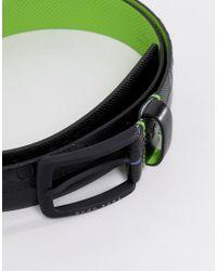 BOSS Toluca Emed Logo Leather Belt In Black for men