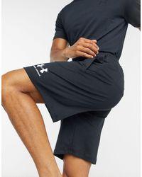 Under Armour Black Cotton Logo Shorts for men