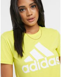 Желтая Футболка Badge Of Sport-желтый Adidas, цвет: Yellow