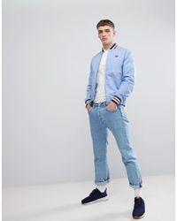 Fred Perry - Reissues Tennis Bomber Jacket In Blue for Men - Lyst