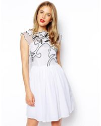 ASOS   White Gothic Prom Dress   Lyst