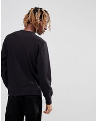 Champion Reverse Weave Sweatshirt With Small Logo In Black for men