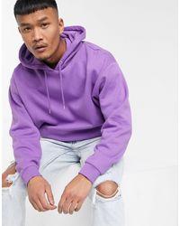 Sudadera extragrande con capucha en violeta ASOS de hombre de color Purple