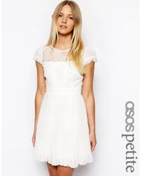 ASOS Pink Exclusive Dress With Cap Sleeve