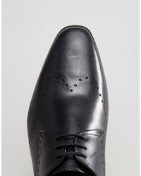 H by Hudson - Erato Leather Brogue Shoes In Black for Men - Lyst