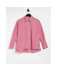 Красная Многоцветная Свободная Рубашка На Пуговицах -многоцветный Lacoste, цвет: Red