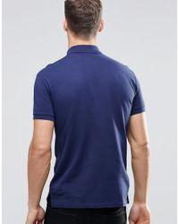 Polo Ralph Lauren Blue Plain Logo Slim Fit Polo for men