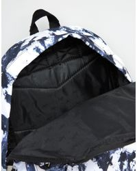 Hype Black Backpack In Monochrome Floral