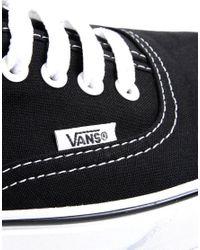 Vans Black Authentic Plimsolls for men