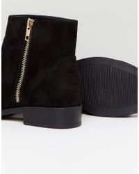 ASOS DESIGN - Black Asos Accused Wide Fit Ankle Boots - Lyst