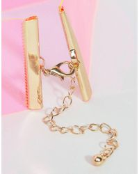 New Look - Pink Wide Plastic Choker Necklace - Lyst