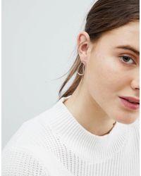 Weekday - Metallic Sterling Silver Blob Earrings - Lyst
