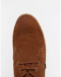 Farah Brown Drape Lo Shoes for men
