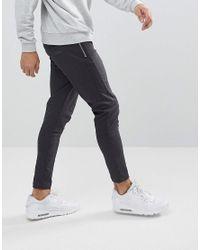 Just Junkies Blue Dash Plain Trousers for men