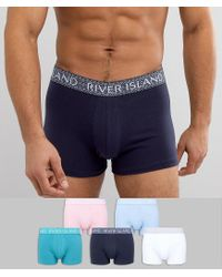 River Island Green Hipsters With Colored Geo Prints 5 Pack for men