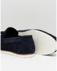 ASOS | Blue Tassel Loafers In Navy Suede for Men | Lyst