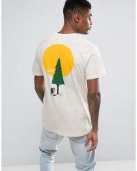 Vans Yusuke Outdoors Printed T-shirt In White Va31k43ks for men