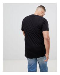 Plus - T-shirt ras ASOS pour homme en coloris Black