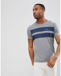 Esprit Gray T-shirt With Double Chest Stripe for men