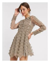 Vestido corto ASOS de color Gray