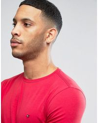 Tommy Hilfiger | Long Sleeve Top Flag Logo In Red Exclusive To Asos for Men | Lyst